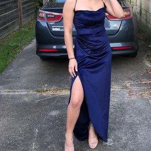 Royal Blue Velvet Dress!